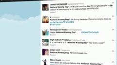 Tweeting in 3D Stock Footage
