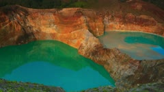 Kelimutu lakes Stock Footage