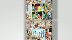Montage 3D Revolving Images Family Generations Stock Footage