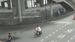 Heavy traffic on Henan South Road, Shanghai, China Stock Footage