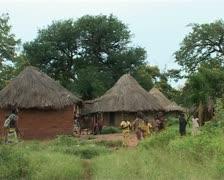 Rural Zambian village Stock Footage