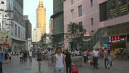 Dong Men Shopping District, Shenzhen, China Stock Footage