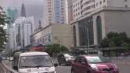Stock Video Footage of Heavy traffic in Business District, Shenzhen, China
