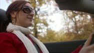 Stock Video Footage of A young woman driving a cabriolet