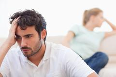 Couple mad at each other - stock photo