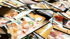 Montage 3D Images Multi Ethnic Brides  Stock Footage