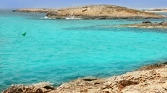 Balearic formentera island Illetes Illetas beach with turquoise paradise water Stock Footage