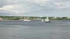 Boats on Halifax Harbour - stock footage