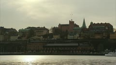 A boat in Stockholm Stock Footage