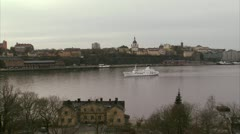 View of Sodermalm, Stockholm Stock Footage