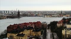Sodermalm, Riddarfjarden, Stockholm Stock Footage