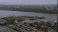 A harbour, Frihamnen, Stockholm Stock Footage