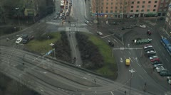 Roundabout, Stockholm Stock Footage