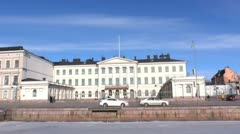 Helsinki 10 - Presidential Palace Stock Footage