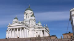 Helsinki 11 - Lutheran Cathedral Stock Footage