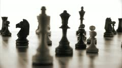 Chessmen on a chessboard Stock Footage