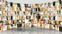 Montage 3D Wedding Images Bride and Family Stock Footage