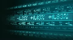 Stock market share figures Stock Footage