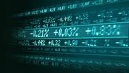 Stock market share figures Stock Footage
