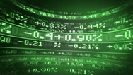 Stocks and Share figures from the markets Stock Footage