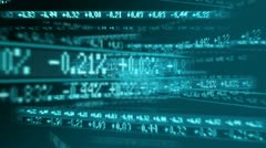 Share figures digitally displayed  - stock footage