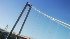 Traffic on a bridge, Hoga kusten bridge - stock footage