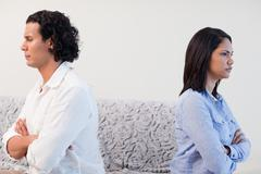 Couple angry at each other Stock Photos