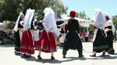 Greek Children Dancing in a Circle Stock Footage