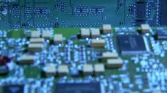A printed circuit card Stock Footage