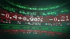 Stocks and Shares in todays markets - stock footage