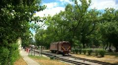 Time lapse children's railway. Stock Footage