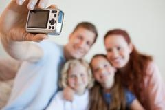 Digi cam being used to take picture - stock photo