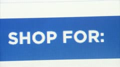 On-line shopping Stock Footage