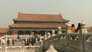 Forbidden city Beijing China Stock Footage