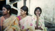 Stock Video Footage of Group of smiling Women V.3 - India 1970s Vintage Super8 Film