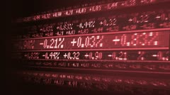 Variations in todays share markets Stock Footage