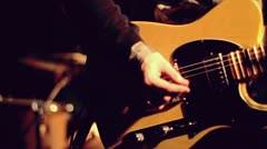 Guitar player slow motion at concert - stock footage