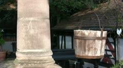 Bucket - column - fountain Stock Footage