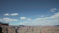 Grand canyon in sunny day with blue sky and clouds Stock Footage