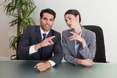 Good looking business people negotiating Stock Photos