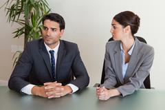 Focused business people negotiating - stock photo