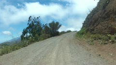 Driving Over A Dirt Road Stock Footage
