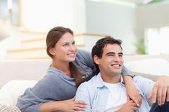 Stock Photo of Charming couple hugging