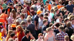 Queensday 2012, Groningen Netherlands Stock Footage