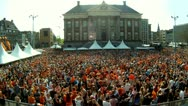 Stock Video Footage of Queensday 2012, Groningen Netherlands