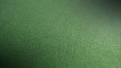Red dices on a gambling table Stock Footage