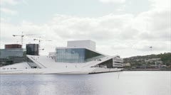 The Oslo Opera House Stock Footage