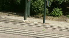 Rail for tramway in Oslo Stock Footage