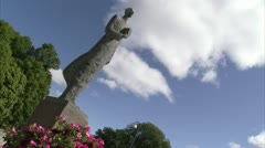 A statue against the blue sky, Norway Stock Footage
