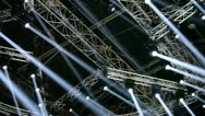 Stock Video Footage of Lighting system on stage
